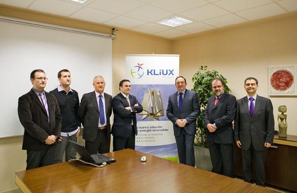 Pedro Sanz y el equipo de Kliux Energies