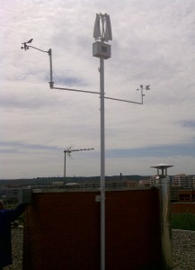 Miniturbina Kliux instalada en la Universidad de La Rioja