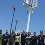 Inauguración aeroturbina en Bayer Tarragona