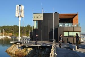Aerogenerador de Kliux Energies en Portonovo, Galicia