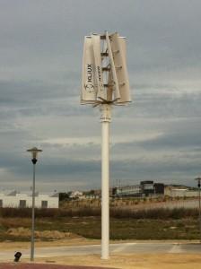 Aerogenerador instalado por Kliux Energies en la Universidad de Zaragoza