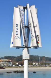 Aerogenerador de Kliux Energies instalado en Porto Novo (España)