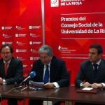 Rueda de prensa en los Premios concedidos por la Universidad de La Rioja