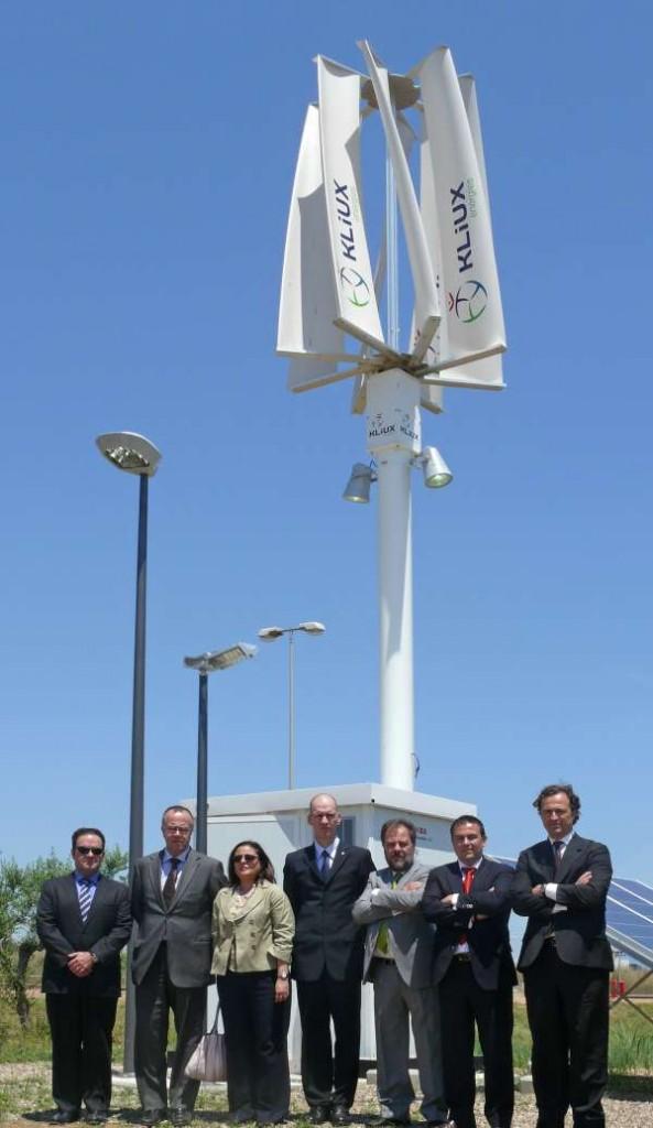 Inauguración turbina de Kliux en Bayer